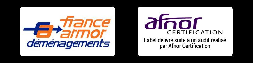 demenageur pas cher à Lille : certification Afnor et partenaire France Armor