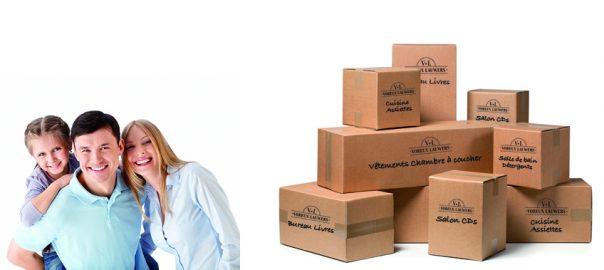 emballage et carton de déménagement
